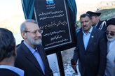 سد نسر در تربتحیدریه با حضور رئیس مجلس بهرهبرداری شد