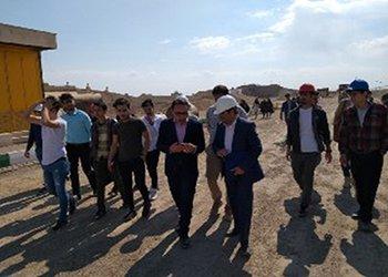 دانشجویان از کارخانه آسفالت شهرداری قزوین بازدید کردند