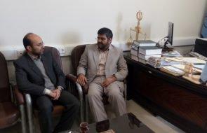 دیدار مدیر امور آبفار زاوه با رئیس دادگستری این شهرستان