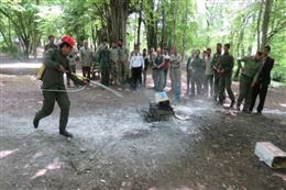 دوره آموزشی اطفاء حریق ویژه محیط بانان و همیاران پارک ملی گلستان