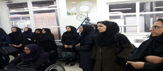 بازدید بانوان شاغل در مجموعه مدیریت شهری مبارکه از شرکت چینی زرین ایران