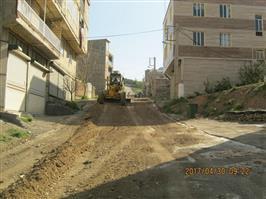 اجرای عملیات تسطیح و رگلاژ معابر و محلات ناحیه منفصل شهری حسن آباد