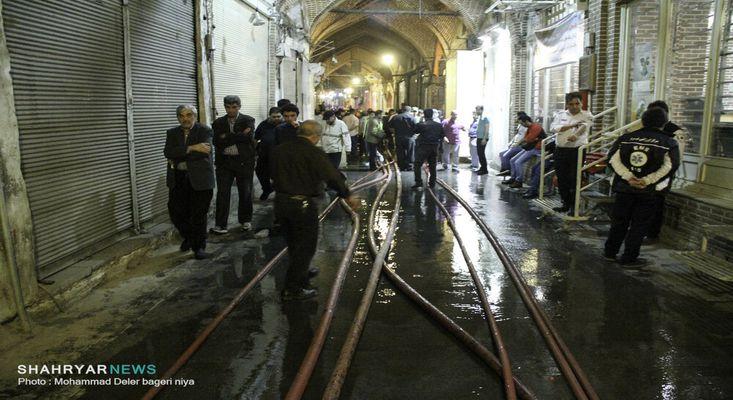 مهار آتش بازار تبریز در کمتر از ۵ ساعت