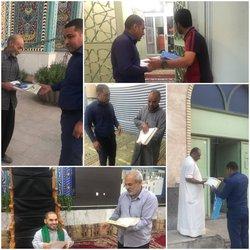 توزیع ادعیه و اوقات شرعی ماه رمضان در مساجد و حسینیه ها توسط شهرداری خرمشهر