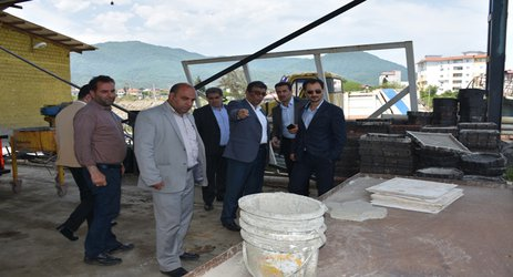 روابط عمومی شهرداری رامسر/ بازدید شهردار و اعضای شورا اسلامی شهر از برخی پروژه های در حال احداث