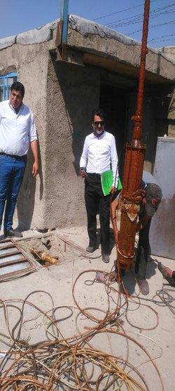 جلوگیری از برداشت غیر مجاز از منابع آب زیرزمینی در اسلامشهر