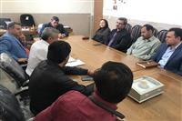 برگزاری جلسه شورای اداری بخش دهج با حضور مدیر کل حفاظت محیط زیست استان، بخشدار ، رئیس شورای شهر، شهردار و جمعی از مسئولین شهر دهج