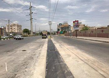 اصلاح هندسی دسترسی بلوار امام خمینی(ره) به بلوار شهید مطهری پایان یافت