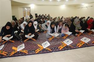 برگزاری مراسم جزء خوانی قرآن کریم در نگارخانه ارشاد شهرداری سنندج