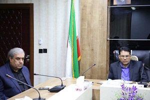 برگزاری جلسه با حضور مهندس علیزاده و رئیس سازمان مدیریت و برنامه ریزی استان
