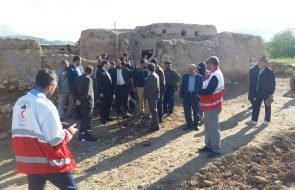 بازدید نماینده مردم فریمان و سرخس در مجلس شورای اسلامی از روستاهای سیل زده فریمان