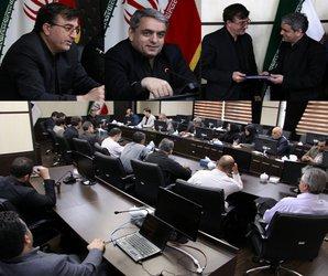 مراسم تکریم و معارفه اعضای قضایی آبهای زیرزمینی شرکت آب منطقه ای برگزار شد.