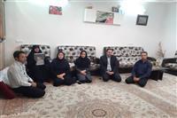 تجلیل از خانواده شهید شمس الدینی و دلجویی از مادر بزرگوار شهید