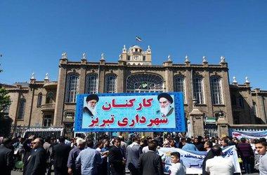 حضور پرشور خانواده بزرگ شهرداری تبریز در راهپیمایی روز جهانی قدس