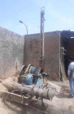 یک دستگاه حفاری غیر مجاز با اخذ دستور قضایی در شهرری توقیف شد