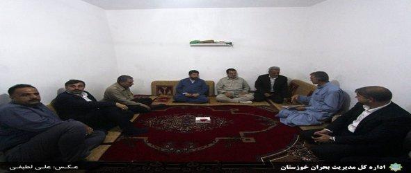 بازدید استاندار و مدیرکل مدیریت بحران خوزستان از مناطق سیل زده دشت آزدگان