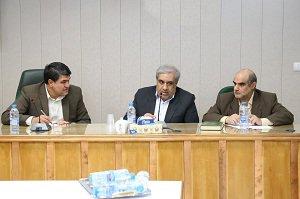 برگزاری جلسه ای با حضور مهندس علیزاده و مدیرکل منابع طبیعی استان