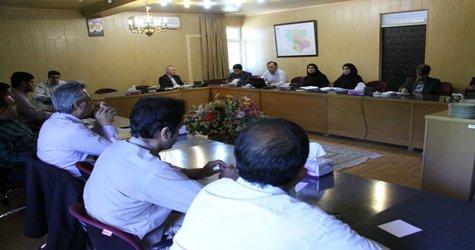 برگزاری جلسه در خصوص نمایشگاه تخصصی سازگاری با کم آبی در شرکت آب منطقه ای زنجان