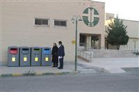 نصب سطل های تفکیک زباله از مبدا در اداره کل حفاظت محیط زیست استان کرمان به مناسبت هفته محیط زیست
