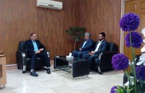 دیدار سرپرست امور آبفار خلیل آباد با فرماندار جدید شهرستان
