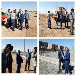 بازدید شهردار زرند از پروژه های فعال شهرداری