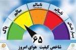 کیفیت هوای مشهد در اولین روز از هفته سالم است