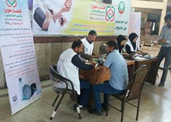 اجرای طرح ملی کنترل فشار خون در پایانه مسافربری آزادگان قزوین