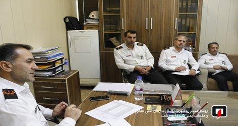 جلسه هم اندیشی، معاون عملیات و مسوولین ایستگاههای آتش نشانی با محوریت پیشگیری از حوادث با توجه به گرم شدن هوا برگزار شد/آتش نشانی رشت