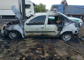 حریق ناگهانی خودرو ال-۹۰ در خیابان نسیم شمال قزوین