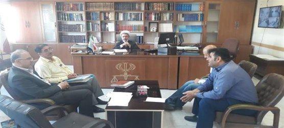 نشست مشترک با رییس شورای پیشگیری از وقوع جرم شهرستان  قرچک برگزار شد