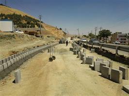 روند احداث بلوار ۲۴ متری کمربندی آبیدر به روایت تصویر
