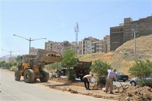 عملیات ساماندهی رفیوژ بلوار توحید در سنندج آغاز شد