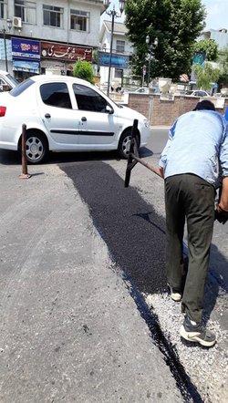 روابط عمومی منطقه دو: گزارش تصویری عملیات لکه گیری و روکش آسفالت محدوده منطقه دو شهرداری رشت