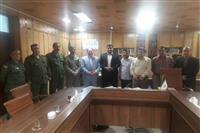 دیدار رییس و جمعی از کارکنان اداره حفاظت محیط زیست شهرستان رشت با فرماندار  رشت