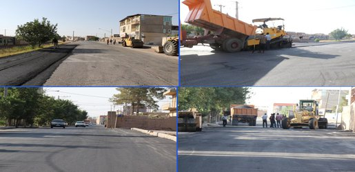 روکش اصلی خیابان شهید خلیل با اعتباری بالغ بر ۳۰۰میلیون تومان  آغاز شد .