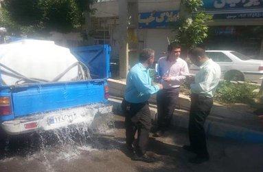 دو خودروی آب فروش توسط امور منابع آب دماوند توقیف شد