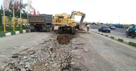 احداث کانالهای آبرو میدان آذربایجان در مراحل تکمیلی