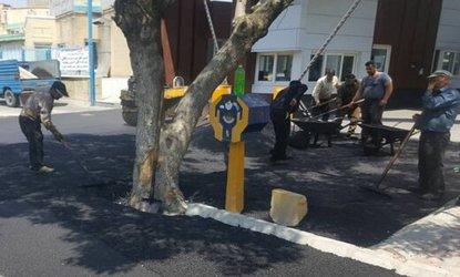 اتمام اجرای ۳۵ تن آسفالت در مسیر خیابان هفت تیر