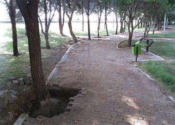 عملیات بازپیرایی بوستان دانش آموز اجرا شد