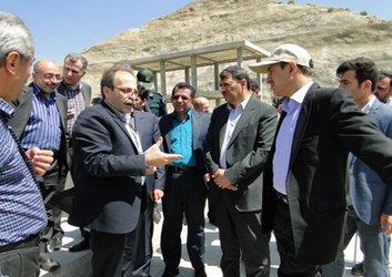 بازدید معاون فنی، امور زیربنایی و تولیدی سازمان برنامه و بودجه کشور از طرحهای شرکت آب منطقه ای کردستان
