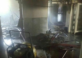 حریق و انفجار در دانشکده علوم پایه دانشگاه علوم پزشکی قزوین با تلاش آتش نشانان مهار شد