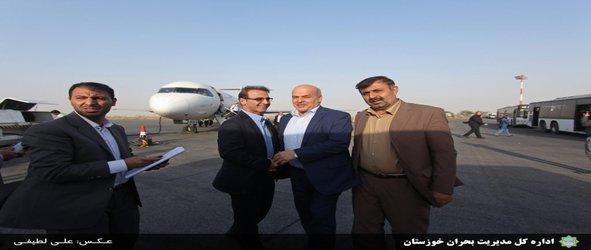 بازدید معاون رئیس جمهور و مدیرکل مدیریت بحران خوزستان از کانونهای ریزگرد جنوب شرق اهواز