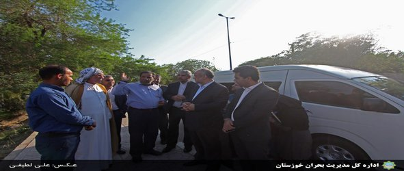 بازدید سخنگوی سازمان مدیریت بحران کشور از مناطق سیلزده شهرستان حمیدیه