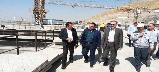 بازدید معاون آب و آبفای وزیر نیرو از تصفیهخانه ششم در دست احداث تهران