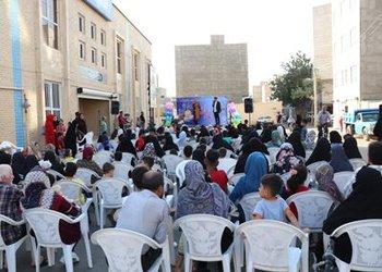 جشن ترنم باران به مناسبت دهه کرامت در محله سنجیده برگزار شد