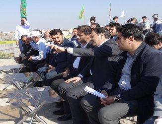 بازدید فرمانده قرارگاه سازندگی خاتم الانبیاء از مخزن ۱۰۰ هزار مترمکعبی تامین آب تبریز