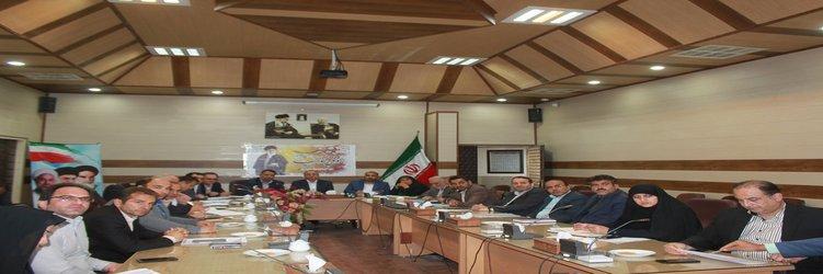 جلسه بررسی آخرین وضعیت پروژه های عمرانی شهرستان سرخه