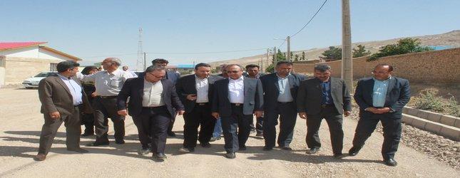 بازدید از پروژه های در حال اجرای بهسازی معابر روستای افتر شهرستان سرخه