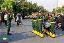 مراسم تشییع پیکر شهید سعادت حاج علی عسگری در ویلاشهر