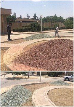 اجرای شن ریزی و زیبا سازی محیط مرکز بهداشت شهر مجلسی توسط نیروهای خدمات شهری شهرداری